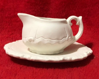 Very Rare Miniature 2 piece Tea Set in ceramic bisque ready to paint