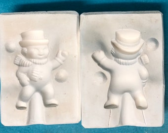 Snowman Ornament Mold by Gemini Molds