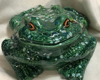 Ceramic Glazed Ceramic  Bull Frog