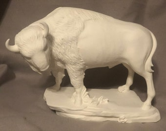 Ceramic Buffalo Bisque ready to paint