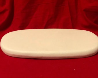 Vintage Large Oval Base in ceramic bisque ready to paint