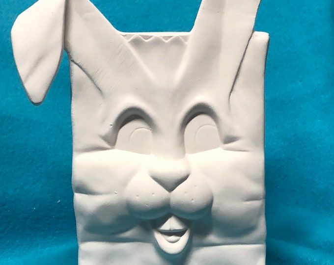 Rabbit Box Ceramic Bisque