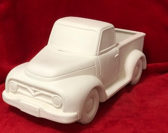 Large Classic Pickup Truck (planter) ceramic bisque ready to paint