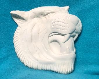 Tiger Ceramic Bisque Wall Hanging
