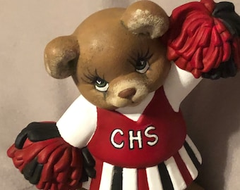Cottonwood Bears Chearleader Ceramic Art
