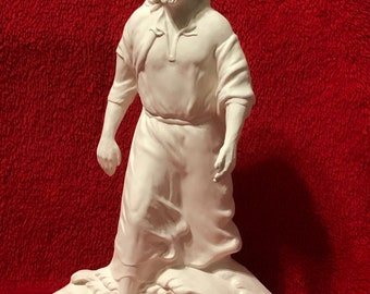 Jesus walking on water in ceramic bisque ready to paint