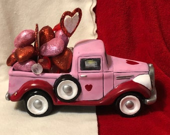 Dry Brushed Ceramic Valentines Love Jalopy using Mayco Softee Stains