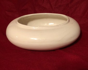 Milk Glass Glazed Ceramic Bowl