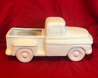 Clay Magic's New 55 Pickup in ceramic bisque ready to paint by jmdceramicsart