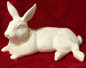 Rare Large Rabbit in ceramic bisque ready to paint