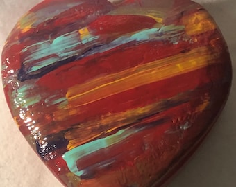 Ceramic Glazed Confetti Jewelry Box or Candy Dish