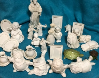 Assortment of Ceramic Miniature What Nots ready to paint