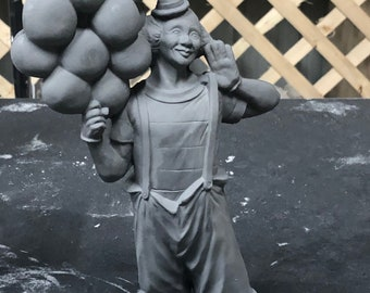 Clown with Balloons in ceramic bisque ready to paint