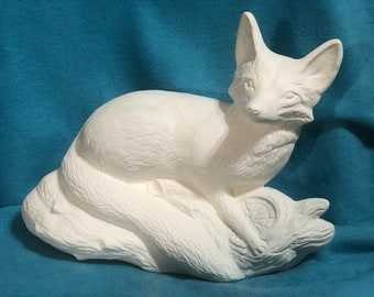 Ceramic Fox Bisque ready to paint