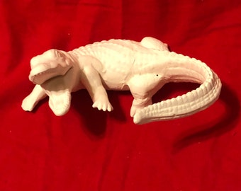 Vintage Alligator in ceramic bisque ready to paint
