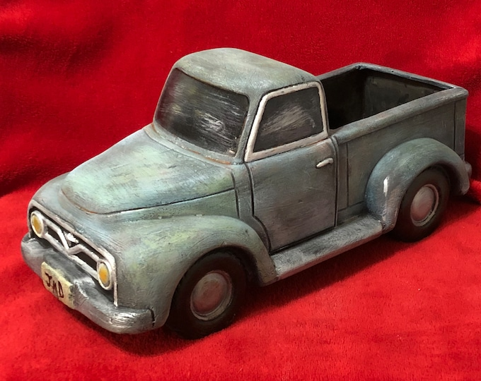 Featured listing image: Ceramic Dry Brushed Vintage Truck using Mayco Softee Stains