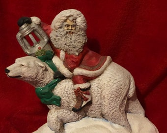 Dry Brushed Ceramic Polar Santa