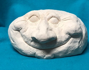 Smiling Face Rock Ceramic Bisque