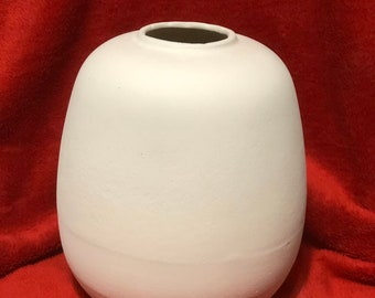 Egg Vase Ceramic Bisque
