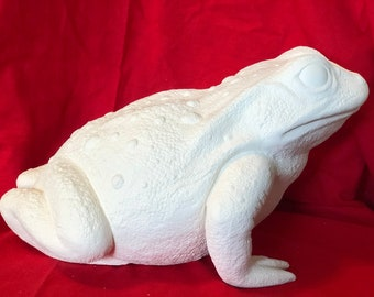 Scioto Molds Life Size Large Toad in ceramic bisque ready to paint