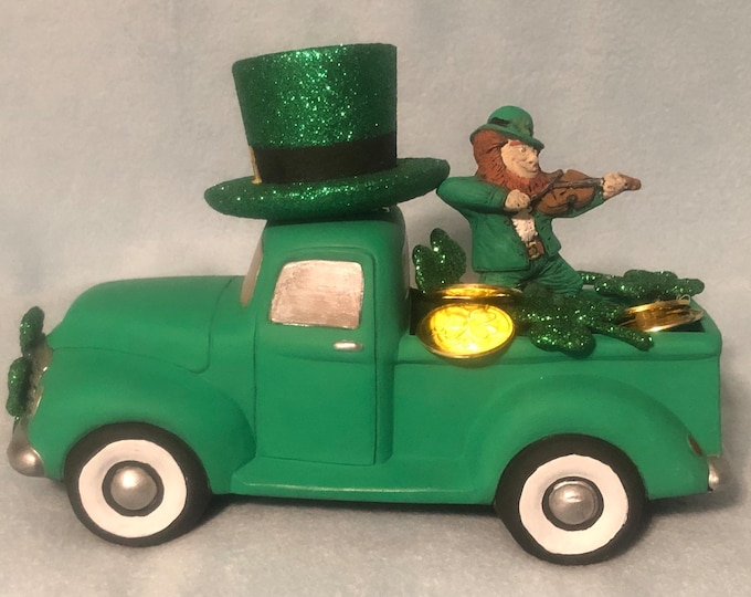 Saint Patricks Day Classic Pickup with Leprechaun