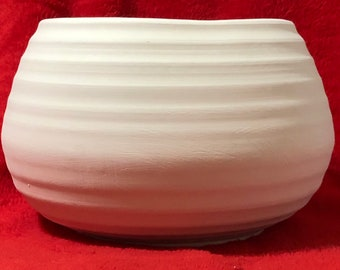 Ceramic Vintage Bowl in bisque ready to paint