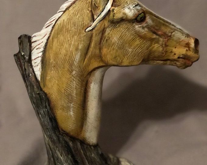 Yellow Driftwood Horse