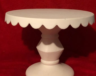 Rare Vintage Ceramic Cake Stand in ceramic bisque ready to paint
