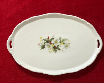 Vintage Ceramic Holiday Serving Platter