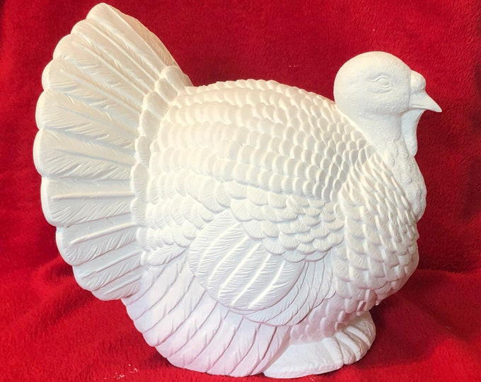 Featured listing image: Large Scioto Molds Thanksgiving Ceramic Turkey in bisque ready to paint (bisque pic coming soon)