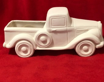 New Old Time Jalopy Pickup in ceramic bisque ready to paint
