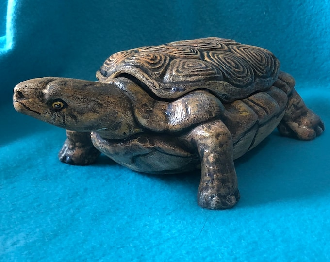Turtle Jewelry Box or Candy Dish