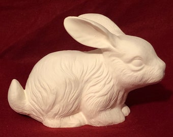 Rabbit in ceramic bisque ready to paint