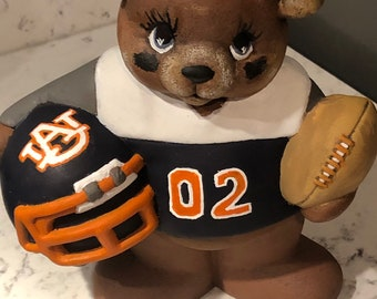 Ceramic Football Bear