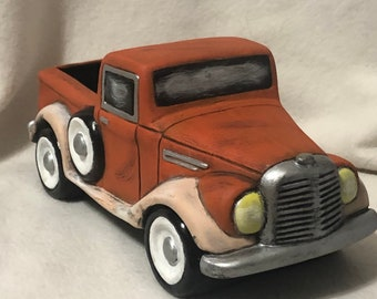 Dry Brushed Old Time Jalopy using Mayco Softee Stains