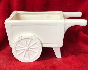 Mayco Molds Ceramic Wagon in bisque ready to paint
