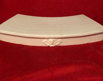 Rare Vintage Decorative Ceramic Mantle Base in bisque ready to paint