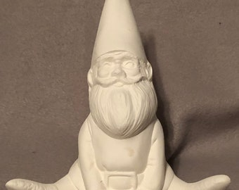 Sitting Gnome Ceramic Bisque