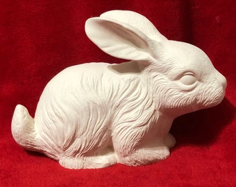Bunny Rabbit in ceramic bisque ready to paint