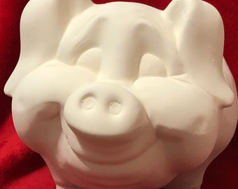 Ceramic Pig in bisque ready to paint