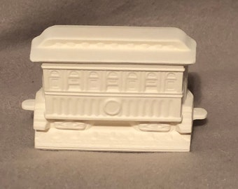 Train Cart Ceramic Bisque