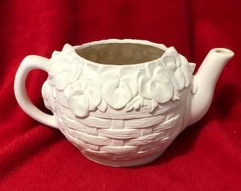 Pansey Tea Pot Ceramic Bisque ready to paint