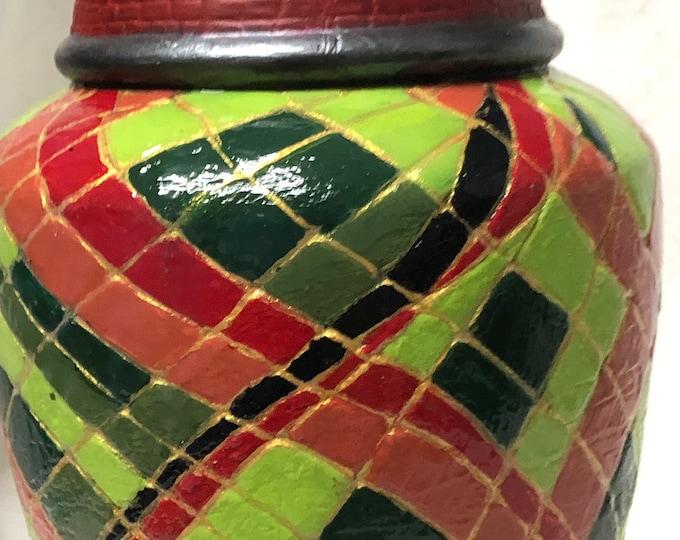 Decorative hand painted Ceramic Vase