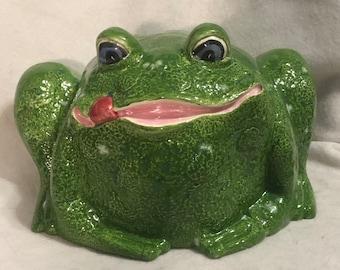 Glazed Ceramic Bull Frog