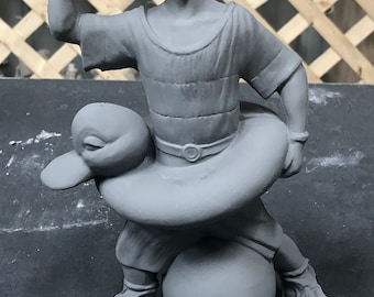 Swimming Clown in ceramic bisque ready to paint