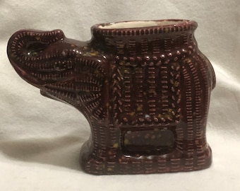 Firefly Burgundy Glazed Egyptian Elephant