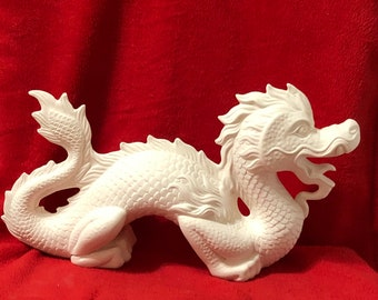 Ceramic Chinese Dragon in bisque ready to paint (bisque pic coming soon)
