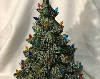 Ceramic Green Glazed Christmas Tree