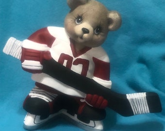 Hockey Bear Ceramic Art