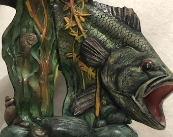 Large Mouth Bass Ceramic Art